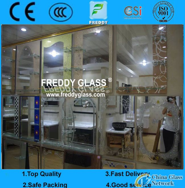 Bathroom Mirrors/Wall Mirror/Water-Proof Mirror/Unitized Bathroom Mirror/Difform Mirror/Silver Mirro