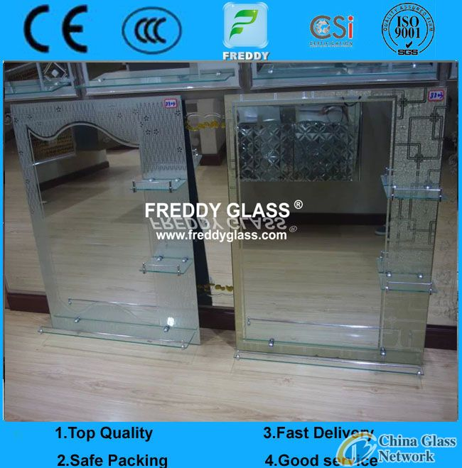 Bathroom Mirrors with frame/Wall Mirror/Water-Proof Mirror/Unitized Bathroom Mirror/Difform Mirror/S