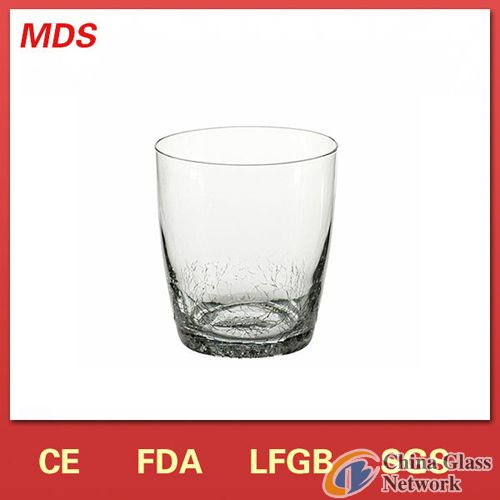 Clear Half Crackle Drinking Water Glass China