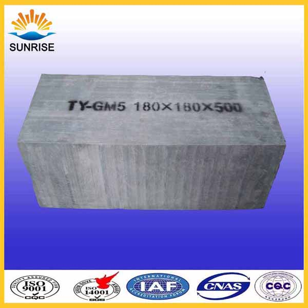 refractory brick  Skid Rail Hearth Block for glass meting