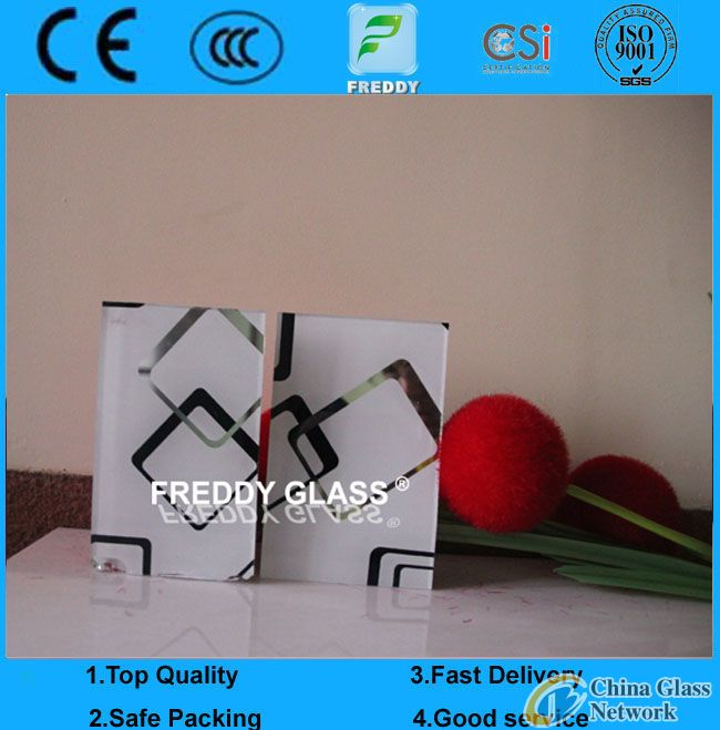 2-19mm Silk Screen Printing Tempered Glass with CCC, CE, ISO