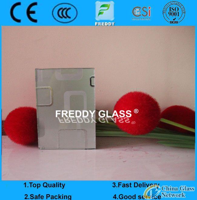 3mm/4mm Tempered Silk Screen PVB Framed Refrigerater Glass