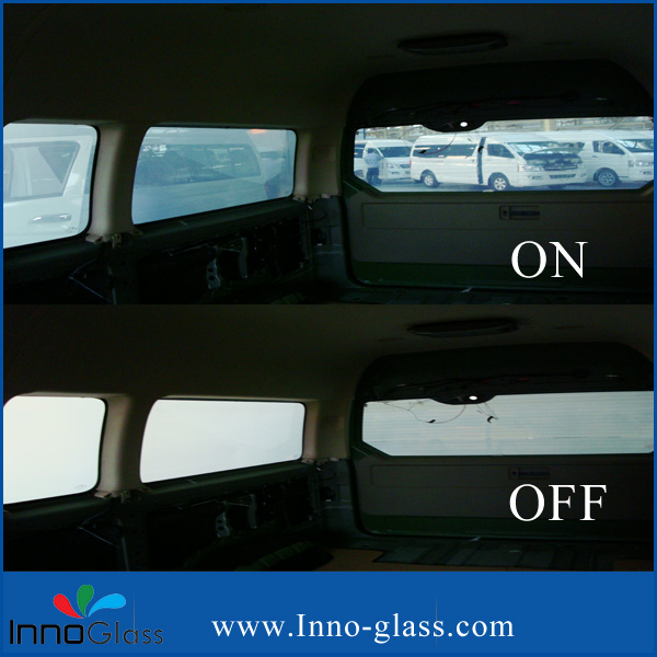 Milk White/Gery/Black Switchable PDLC Film and Glass used by Car
