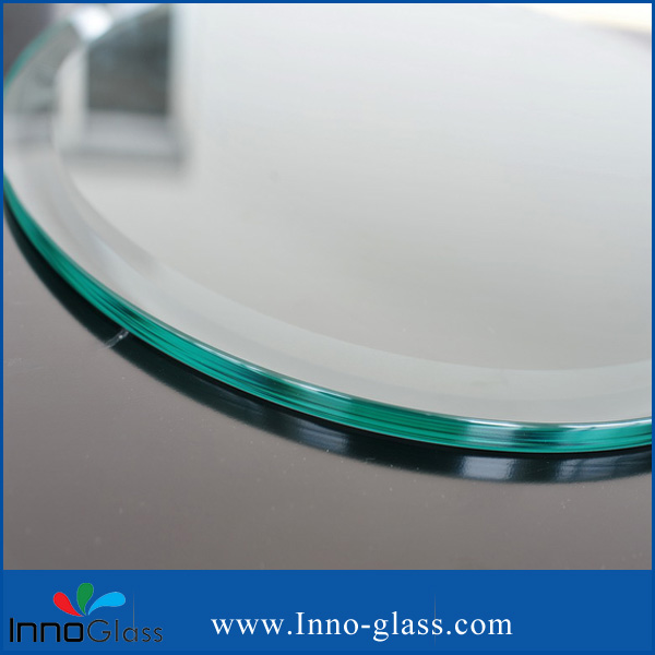 6-8mm Circle Tempered Dinne Table Top with Beveled  Edges on Sale