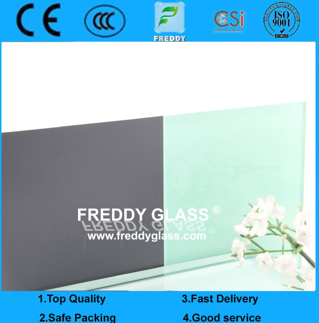 Light Green Painted Glass/