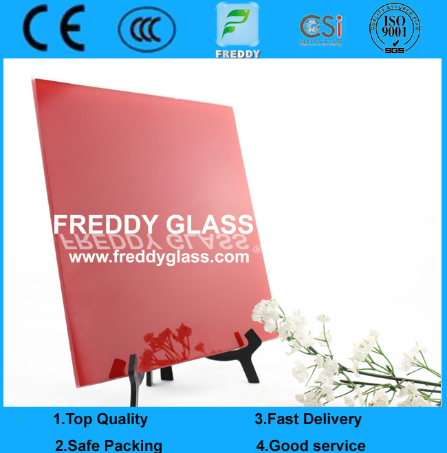4mm Red Lacquered Glass