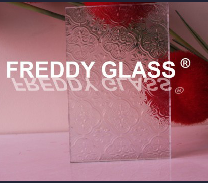 6mm, 8mm, 10mm, 12mm Clear Flora Patterned/Figured/Rolled Glass