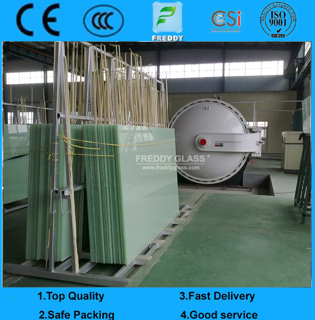4/0.38/4 Tempered Milk Laminated Glass