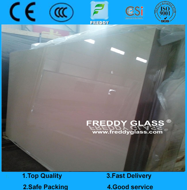 3mm Ultra Clear Painted/ Ivory Paint Glass
