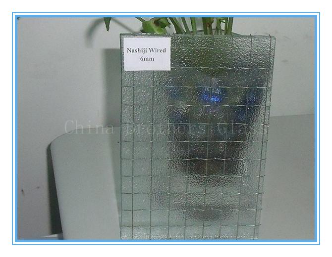 Clear Nashiji Wired Glass