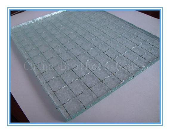 Nashiji Wired Glass