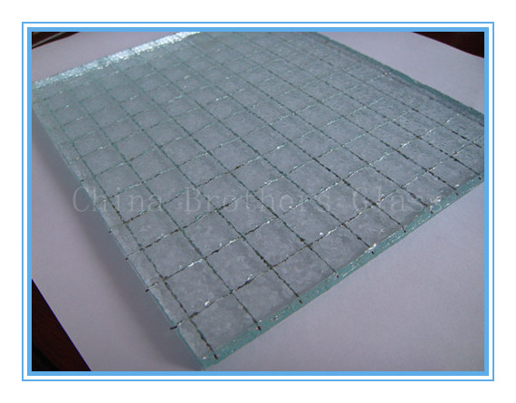 7mm Nashiji Wired Glass