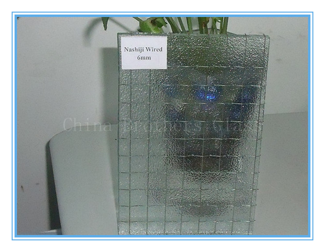 Wired Glass with Nashiji Patterned