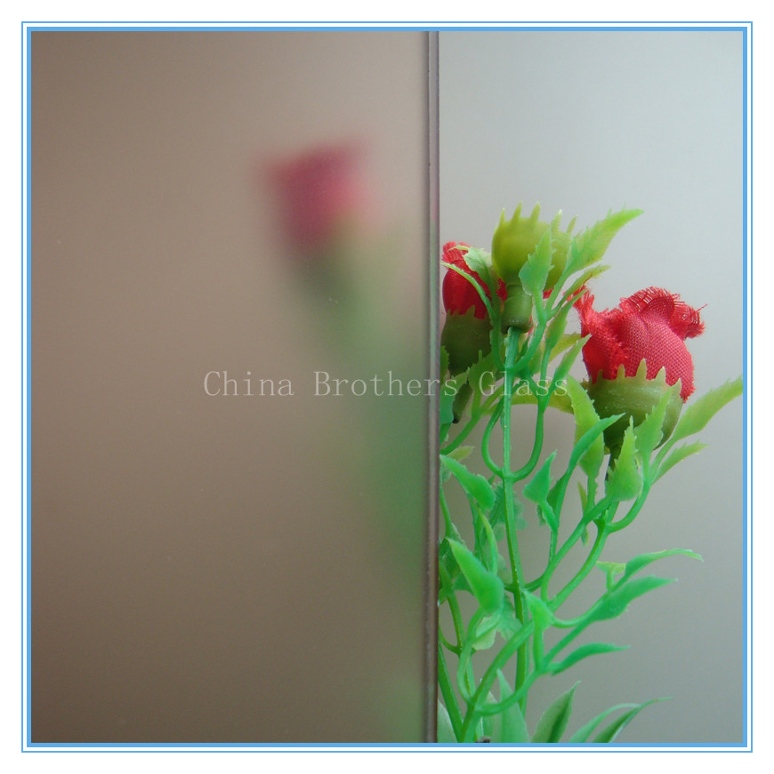Bronze Tinted Acid-etched Frosted Glass
