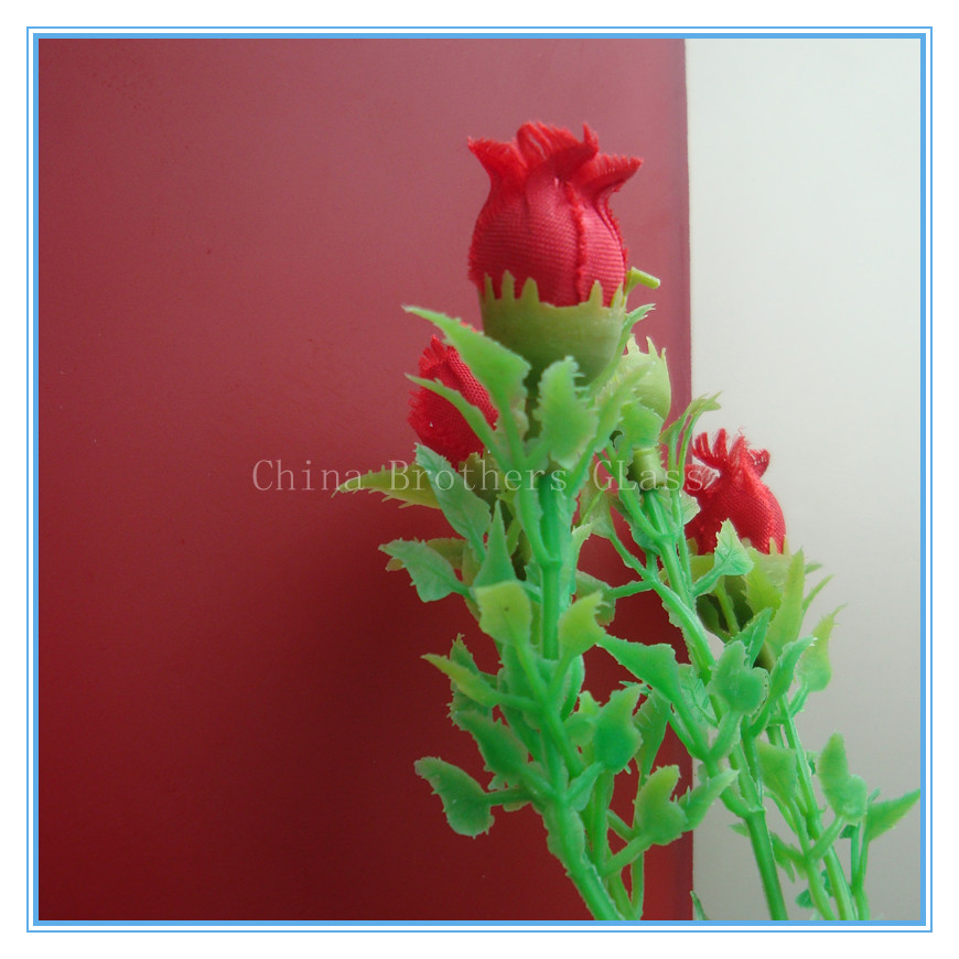 High Quality Acid Etched Painted Glass for decoration