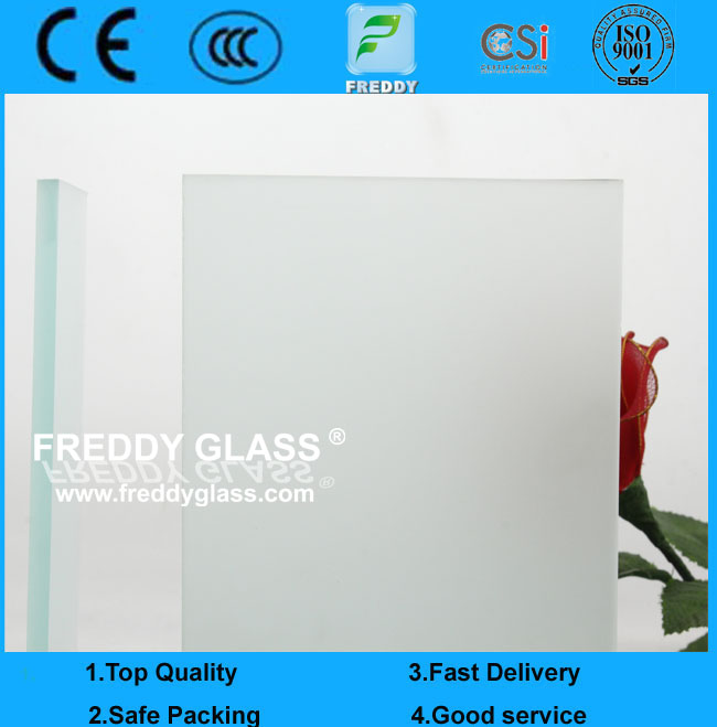 3mm Clear Acid Etched Glass