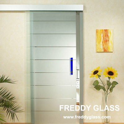 10mm Clear Acid Etched Shower Door Glass