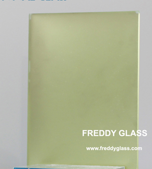 4mm Crystal Yellow Frost Mirror for Decoration