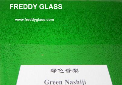 Colored Nashiji Pattened Glass