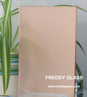 5mm Pink Frosted Glass