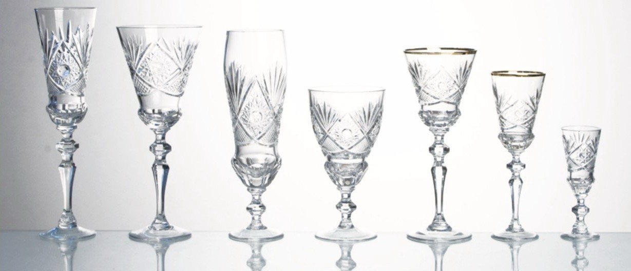 """Neman"" Crystal glass series."