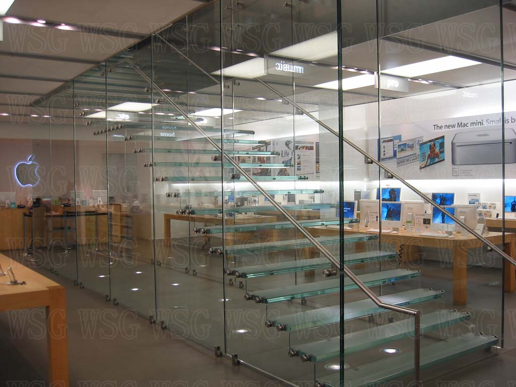 Glass stair which used at Apple store