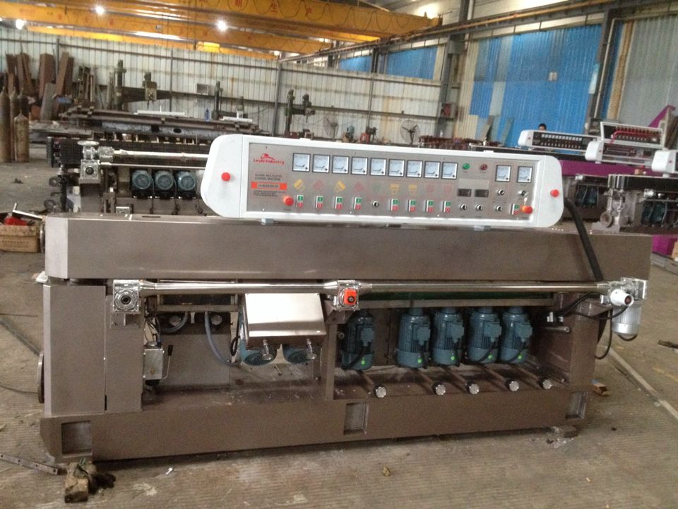9 spindles glass straight-line edging machine
