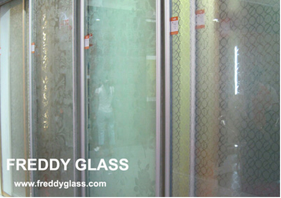 8mm-19mm Tempered Frosted Glass for Bathroom Door