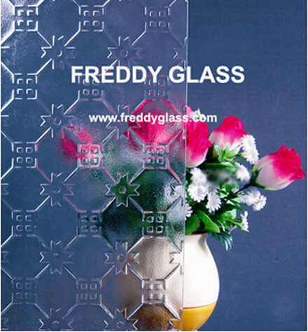3-12mm Crossquare Clear Patterned/Rolled/Figured Glass for Decoration