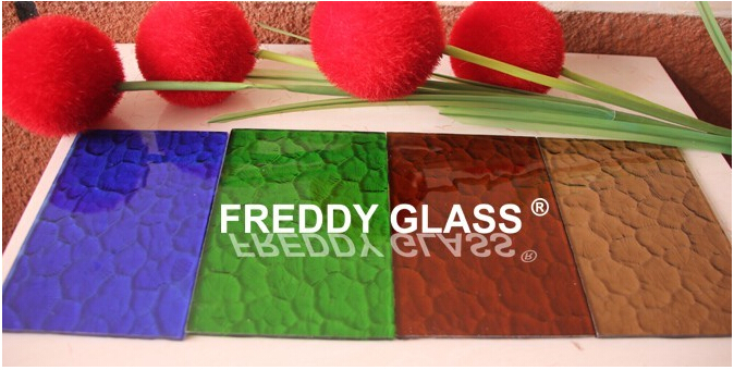 Colored Oceanic Patterned Glass/Pattern Glass/China Glass Manufacturer