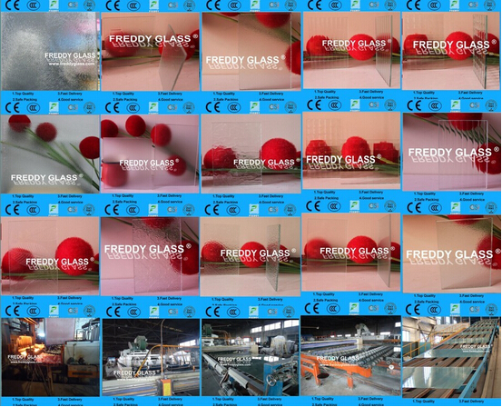2mm, 4mm, 5mm Clear Patterned Glass/High Quality Glass