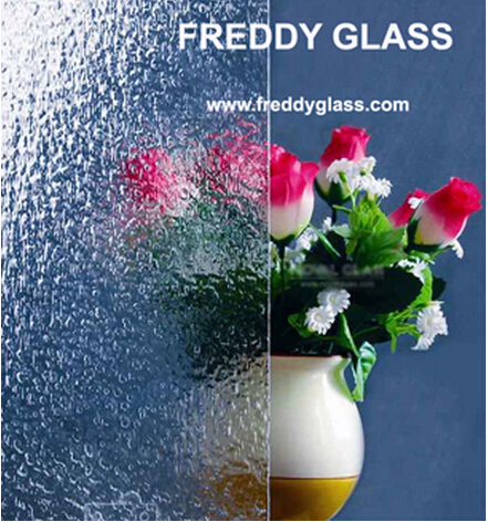 8mm, 10mm. 12mm Clear Granite Figured Art Glass for Decoration/Nice Quality Glass