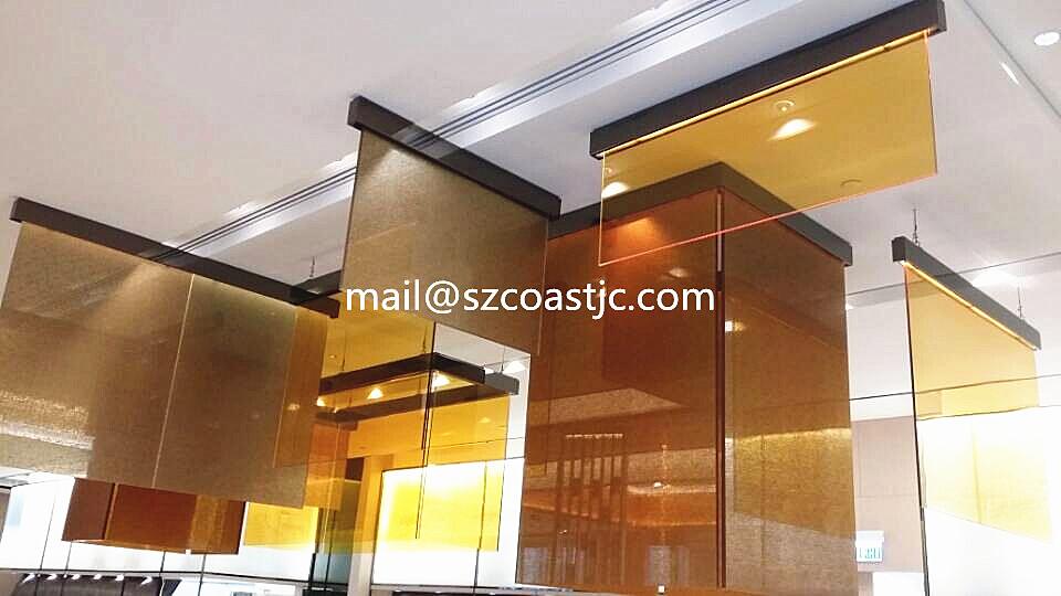 Resin Pvb Brown Color Laminate Glass Colorful Laminated