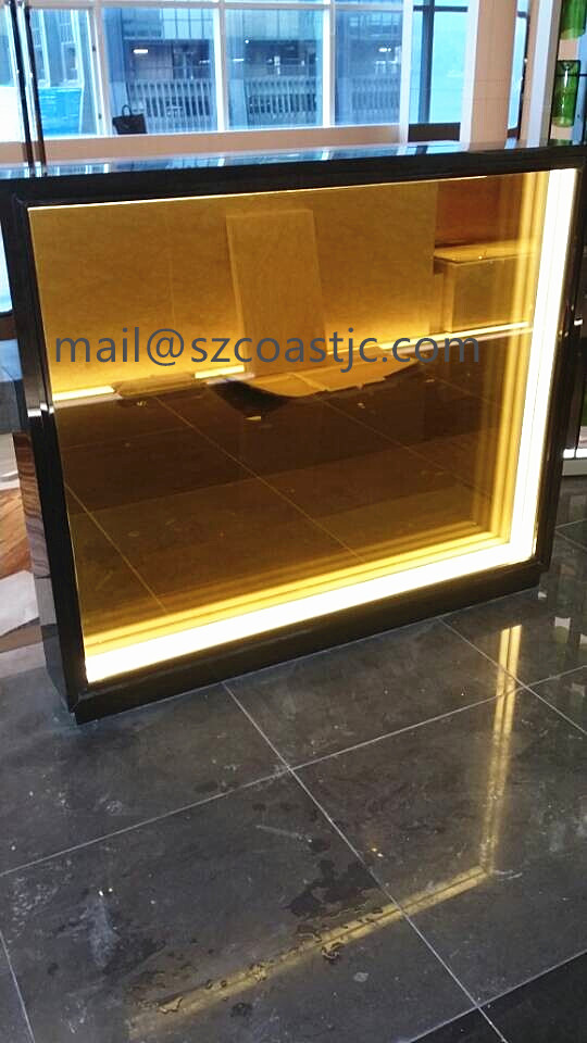 Opaque colorful laminated safety glass price for outdoor and indoor