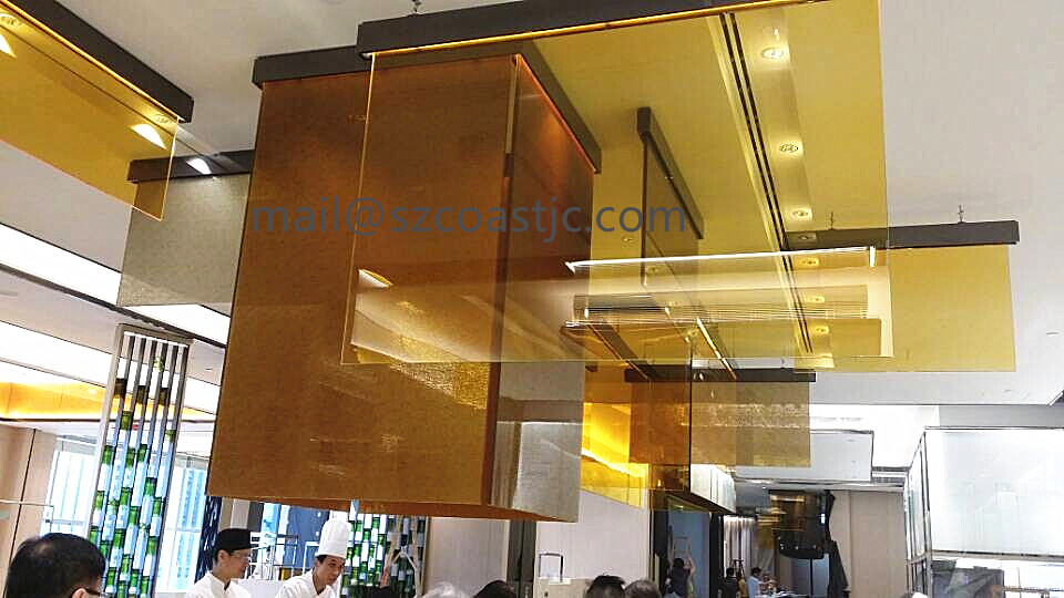 CE Clear and Colorful laminated glass PVB Resin decorative laminated glass