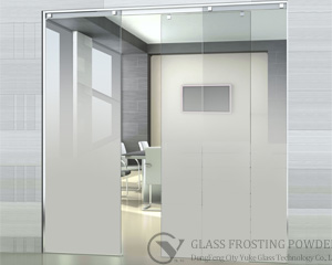 Gradual change effect glass frosting powder