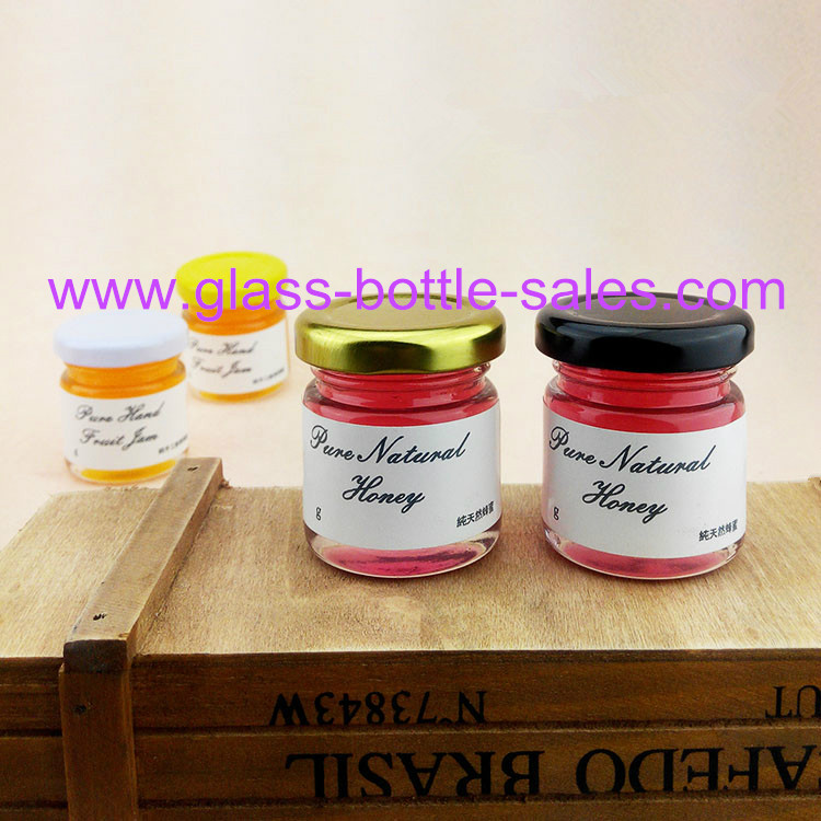 75ml Mini Clear Glass Jam Jar