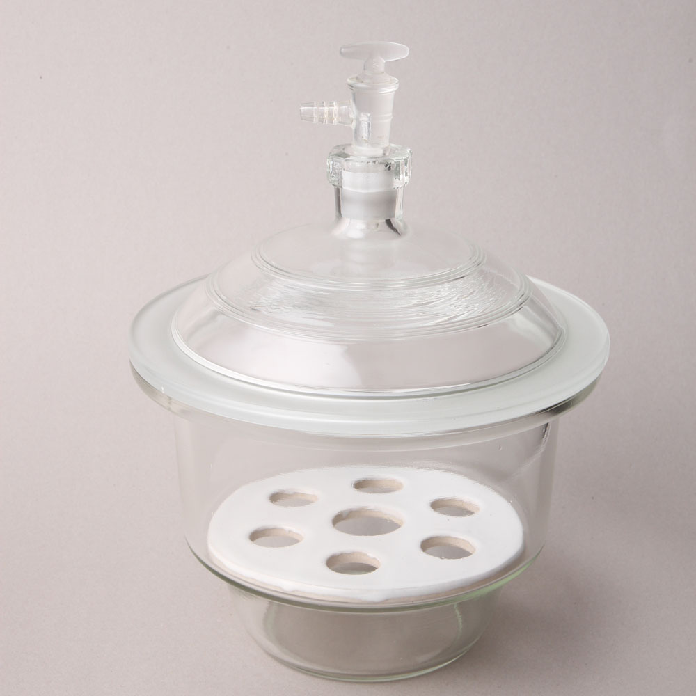 HUAOU Vacuum Desiccator with ground-in stopcock and porcelain plate
