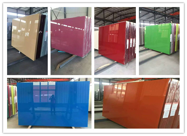 2-6mm Colorful Back Painted Glass for Decoration/ Varnished Glass