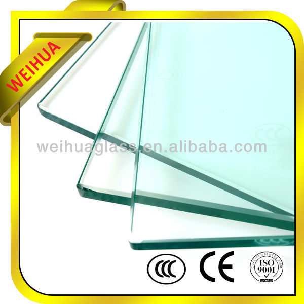 Clear tempered glass for commercial buildings