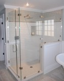 The shower glass