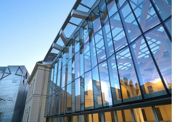 Full glass curtain wall, reflective glass wall, Low-E glass screen wall