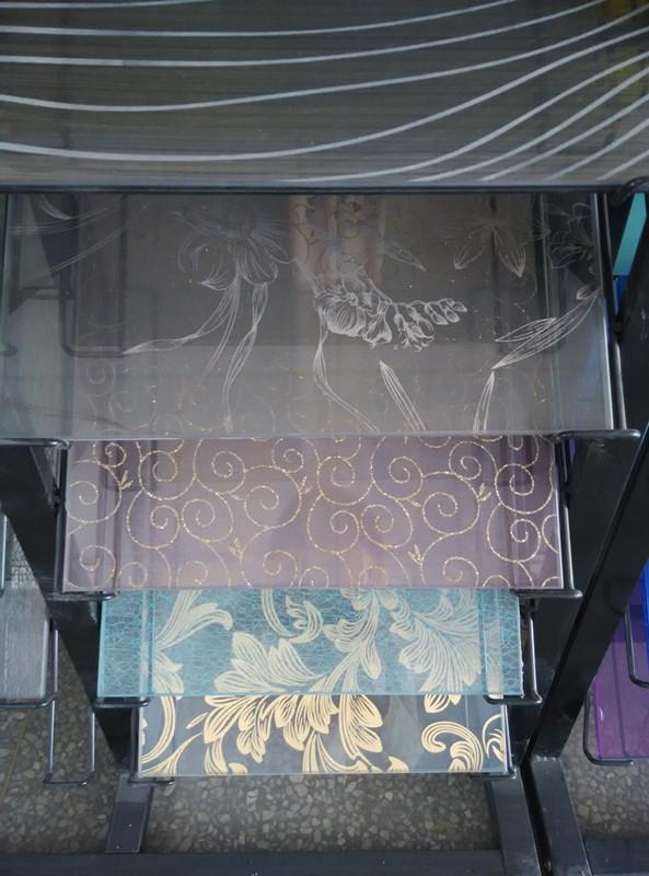 silk cloth laminated glass