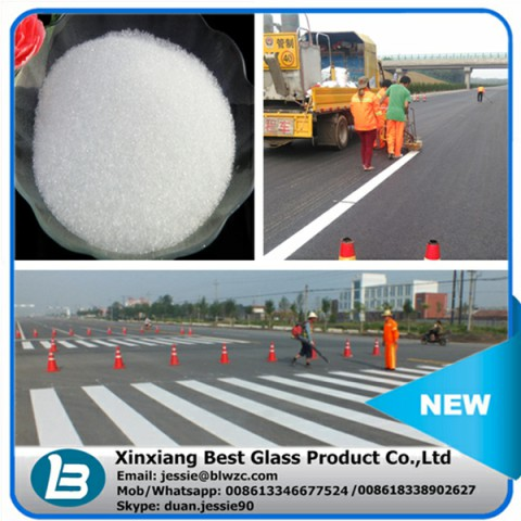 high intensity relective road sign glass beads microsphere