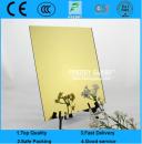 1.5mm-6mm Golden Yellow Tinted Aluminum Modern Mirror/Decorative Mirror