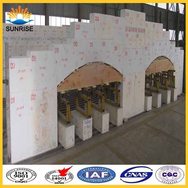 Container glass furnace used Casting AZS refractory Fused cast AZS for furnace