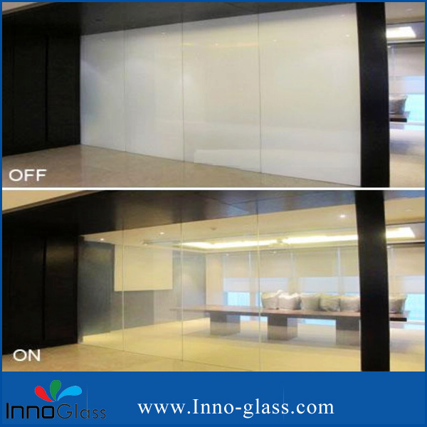 Non-adhesive PDLC Film for  Laminated Glass on Building