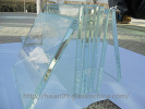 High quality Fine grinding side tempered/toughened glass supplier