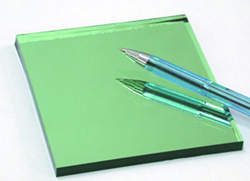 Dark green reflective float glass