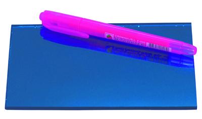 Dark blue reflective float glass